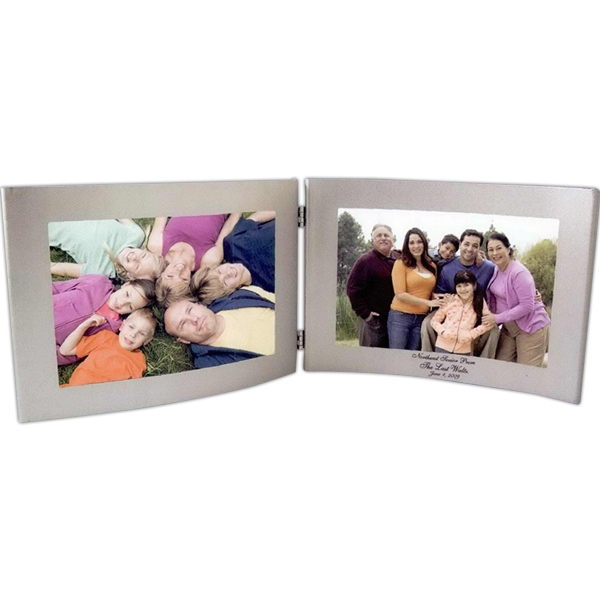 Printed 6 x 4 Silver Dual Hinged Curved Frame