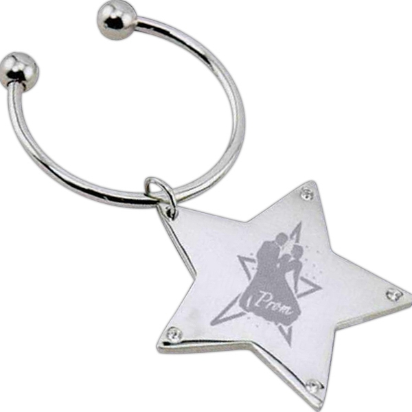 Personalized Rhinestone Star Keytag