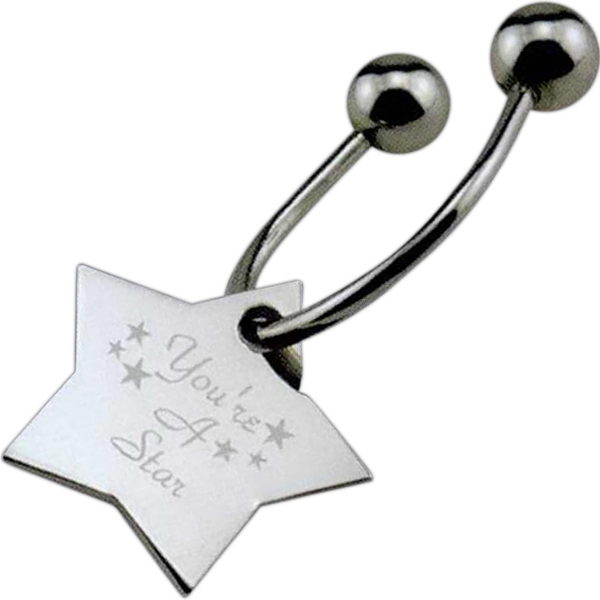 Custom Designer Inspired Star Keytag