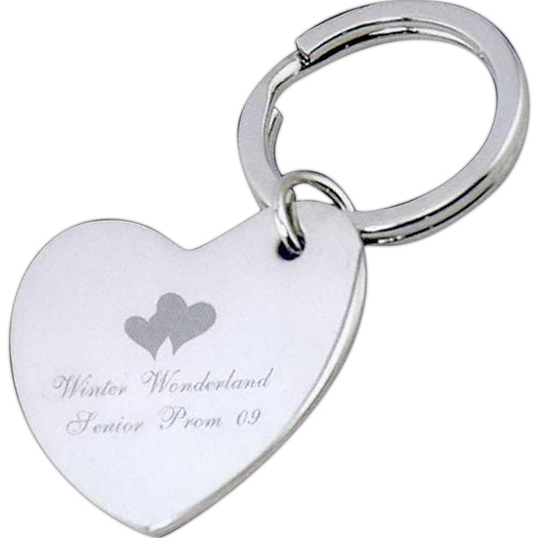 Printed Heart Key Tag