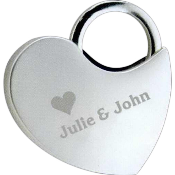 Custom Locking Heart Keytag
