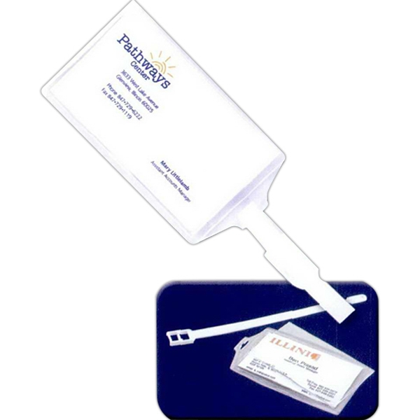 Personalized Snap-In Luggage Tag