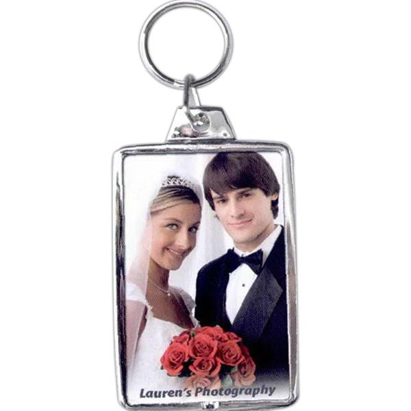 Custom Silver Snap-in Key Tag