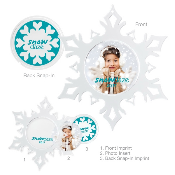 Custom Snap-in Snowflake