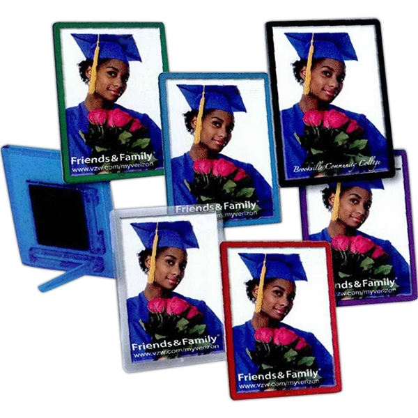 Personalized 2 x 2 7/8 Translucent Magnetic Snap-In Frame