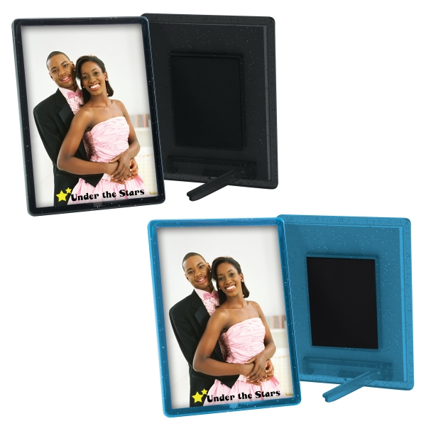 Imprinted 2 1/2 x 3 1/2 Translucent Magnetic Snap-In Frame