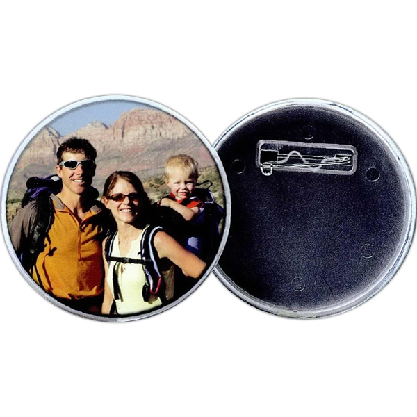 Personalized 2 7/8 Snap-In Pinback Button