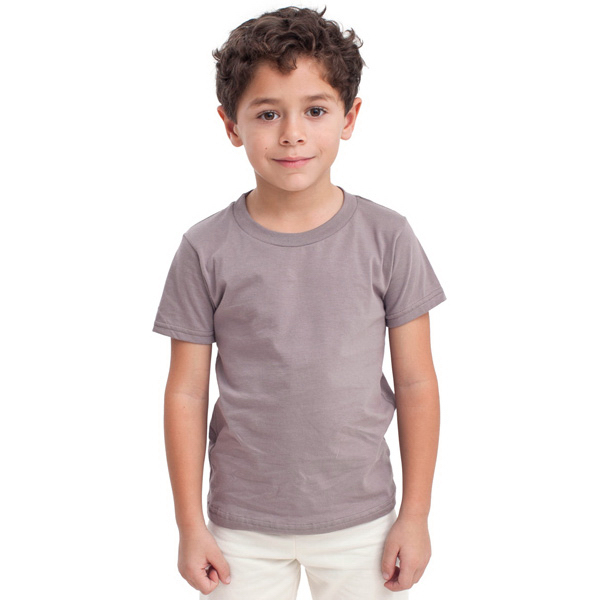 Customized Organic Kids Fine Jersey Short Sleeve T