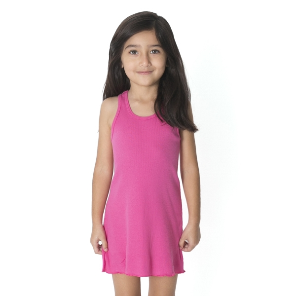 Personalized Kids Rib Racerback Dress