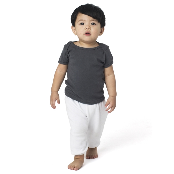 Imprinted Infant Baby Rib Short Sleeve Lap T
