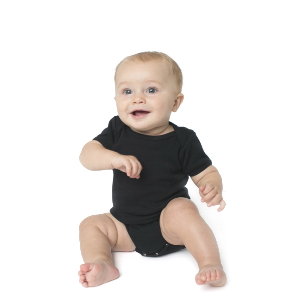 Imprinted Infant Baby Rib Short Sleeve One-Piece