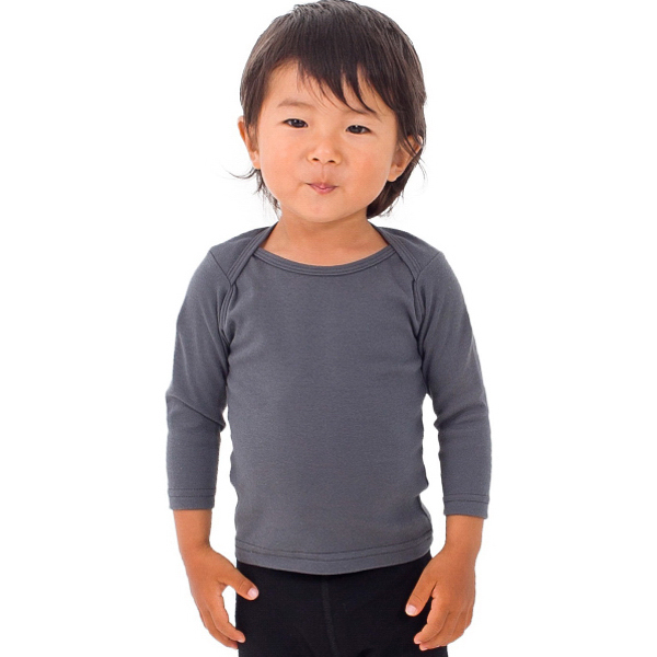 Printed Infant Baby Rib Long Sleeve Lap T