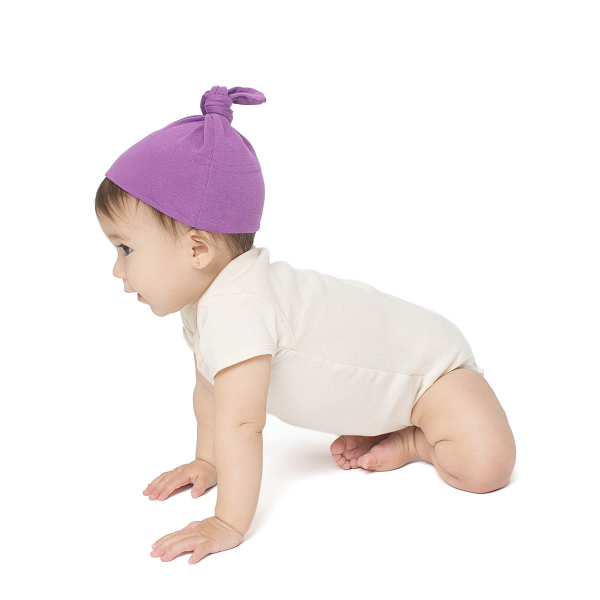 Custom Organic Infant Baby Rib Hat