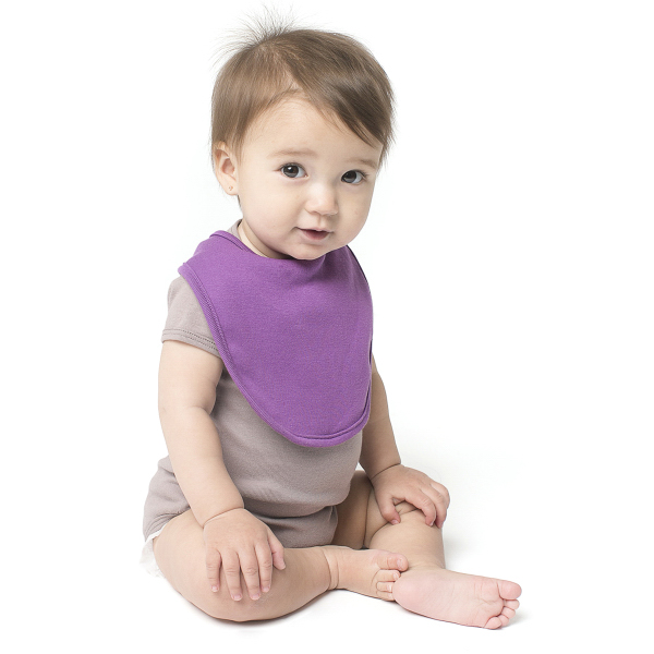 Customized Organic Infant Baby Rib Reversible Bib