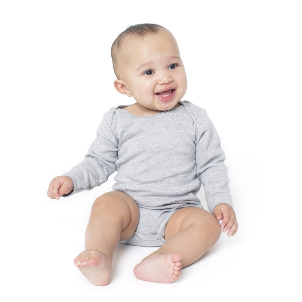 Printed Infant Baby Rib Long Sleeve One-Piece