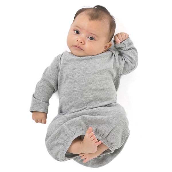 Promotional Infant Baby Rib Long Sleeve Gown
