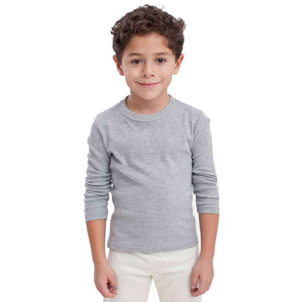 Printed Kids Baby Rib Long Sleeve T