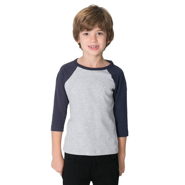 Customized Kids Baby Rib 3/4 Sleeve Raglan