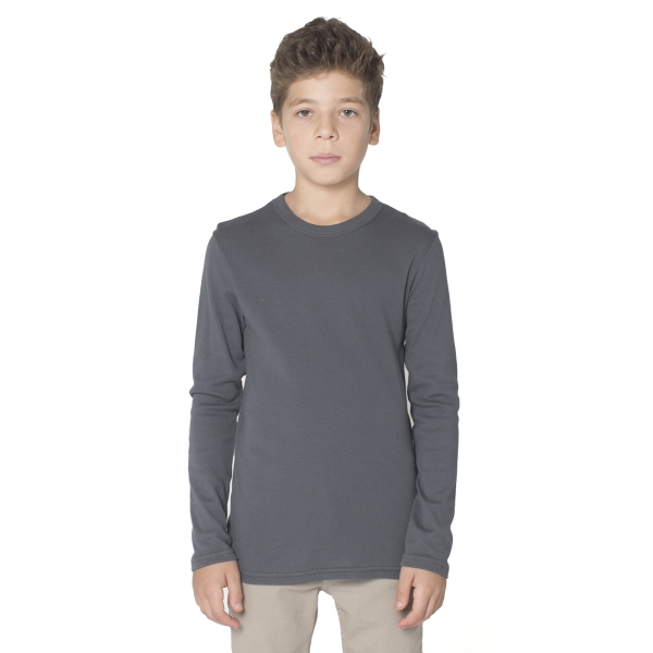 Promotional Youth baby Rib Long Sleeve T