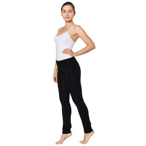 Imprinted Cotton Spandex Jersey Straight Leg Yoga Pant