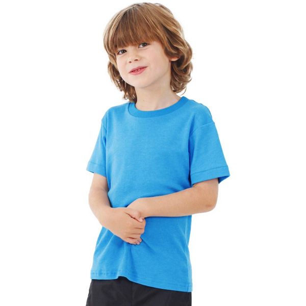 Printed Kids Poly-Cotton Short Sleeve T