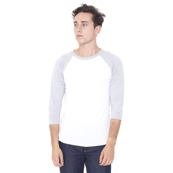 Personalized Unisex Poly-Cotton 3/4 Sleeve Raglan Shirt