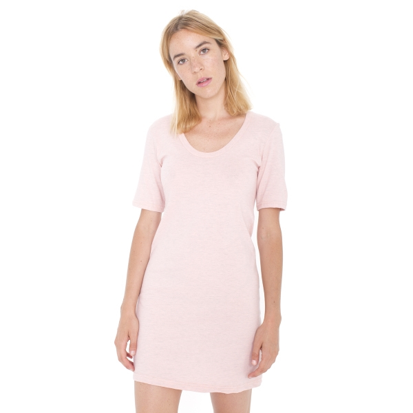 Custom Fine Jersey Short Sleeve Crew Neck T-Shirt Dress