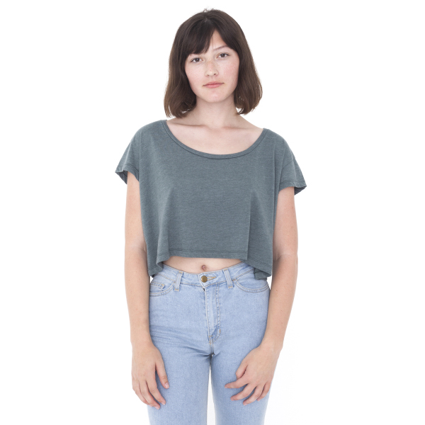 Printed Loose Crop T