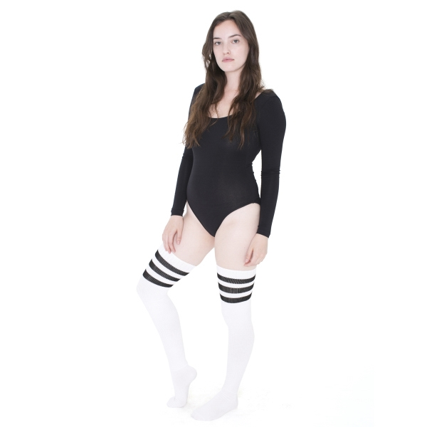 Personalized Stripe Thigh-High Sock