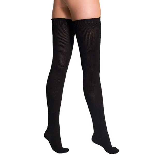 Customized Cotton Solid Thigh-High Sock