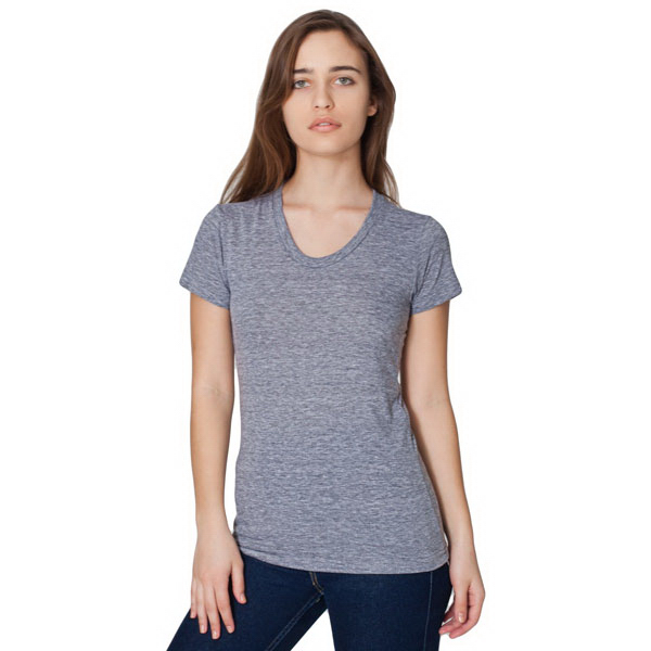 Customized Tri-Blend Short Sleeve Women's Tract T