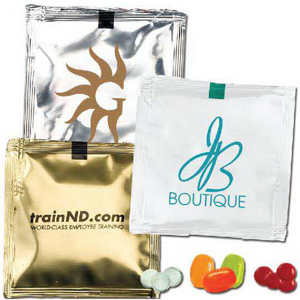 Imprinted Square Bountiful Bag with Jelly Beans