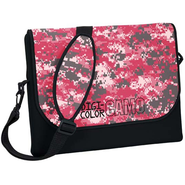 Personalized Standard Size Neoprene Messenger Bag with Strap - Digi Camo