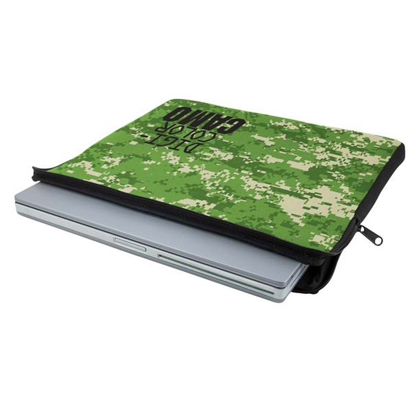 Imprinted Zippered Neoprene Laptop Sleeve - Digi Camo