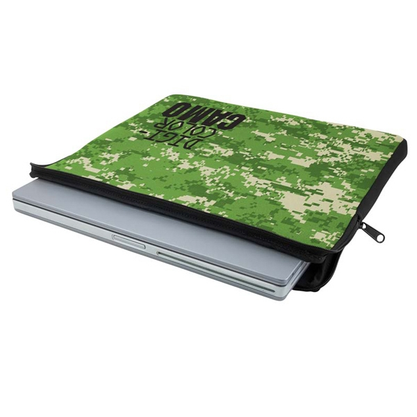 Customized Zippered Neoprene Laptop Sleeve - Digi Camo