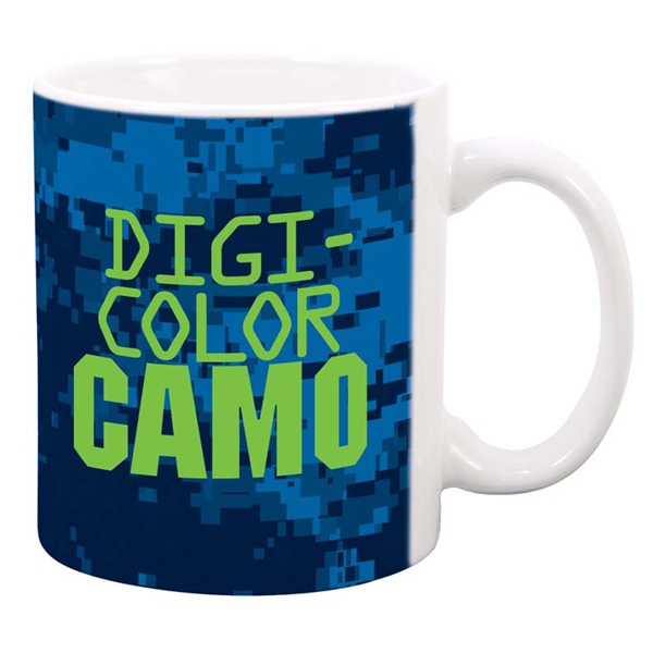 Promotional White Sublimation Mug 11 oz.  - DigiCamo