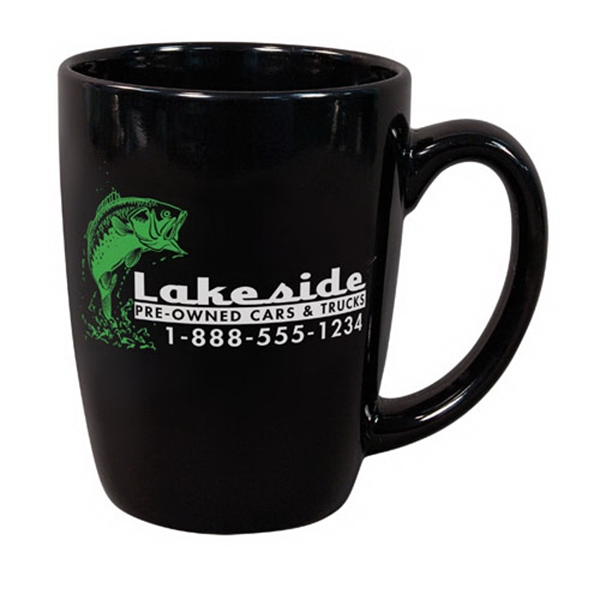 Customized 11 oz. Black Challenger Mug