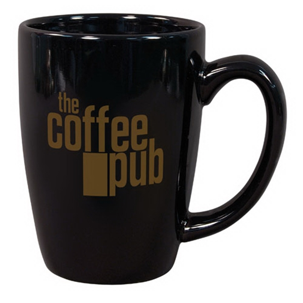 Personalized 14 oz. Black Challenger Mug