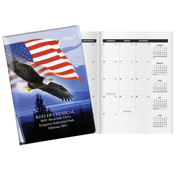 Custom Patriotic Liberty Deluxe Classic Monthly Planner