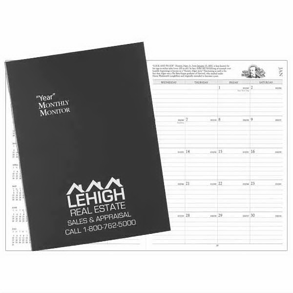 Printed Docket Monthly Monitor Deluxe Planner