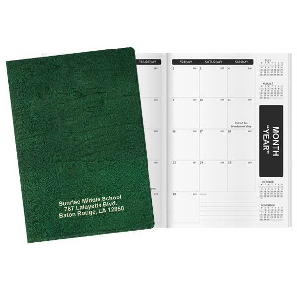 Personalized Flex Core Deluxe Academic Monthly Planner