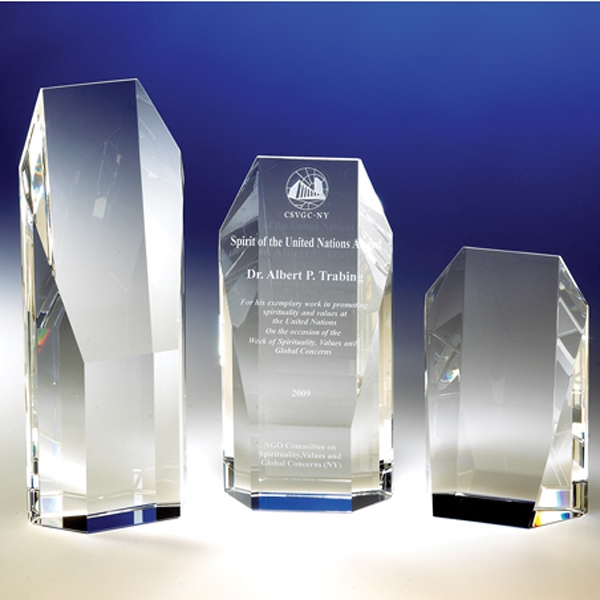 "Custom The ""Vanguard"" Crystal Award From Crystal World"