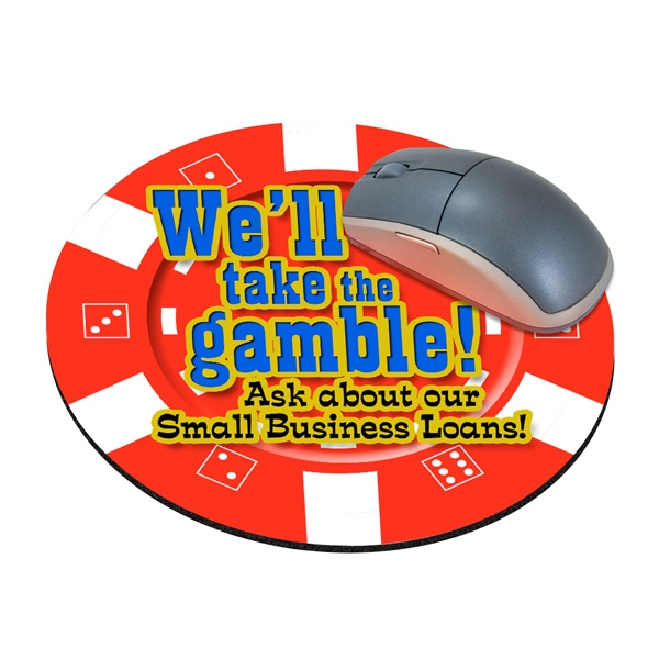 Customized Standard Shape Mousepad - Casino Chip
