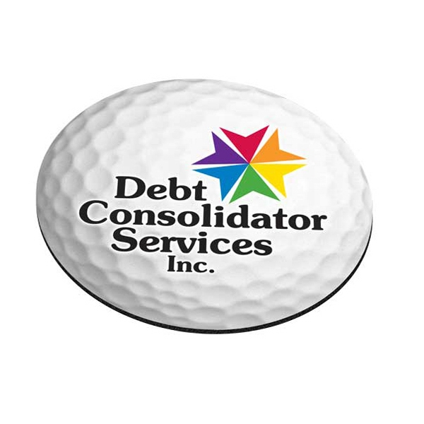 Imprinted Standard Shape Mousepad - Golf Ball