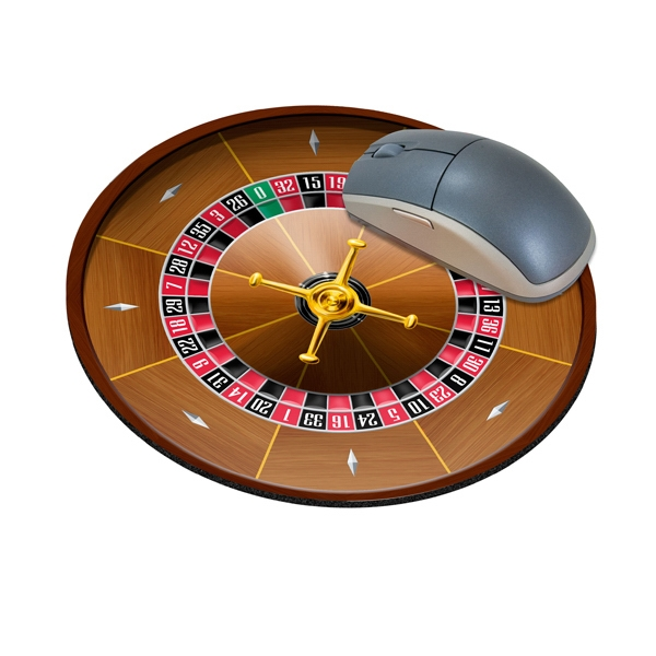 Promotional Standard Shape Mousepad - Roulette Wheel