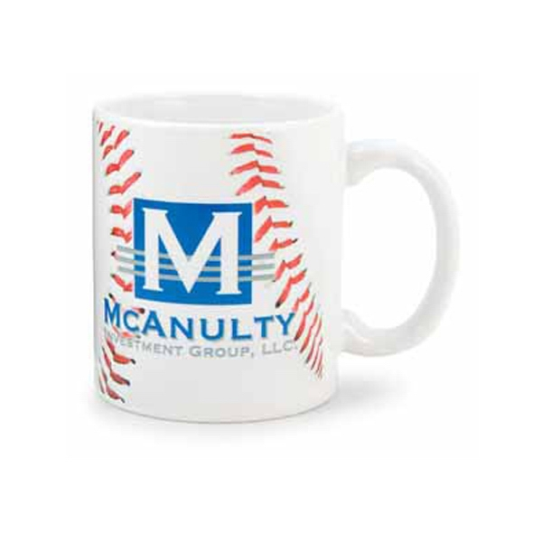 Customized 11 oz. Baseball Mug