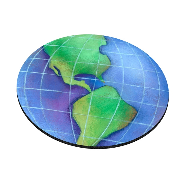 Customized Standard Shape Mousepad - World Globe