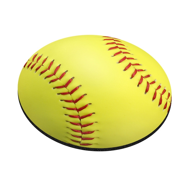 Imprinted Standard Shape Mousepad - Softball