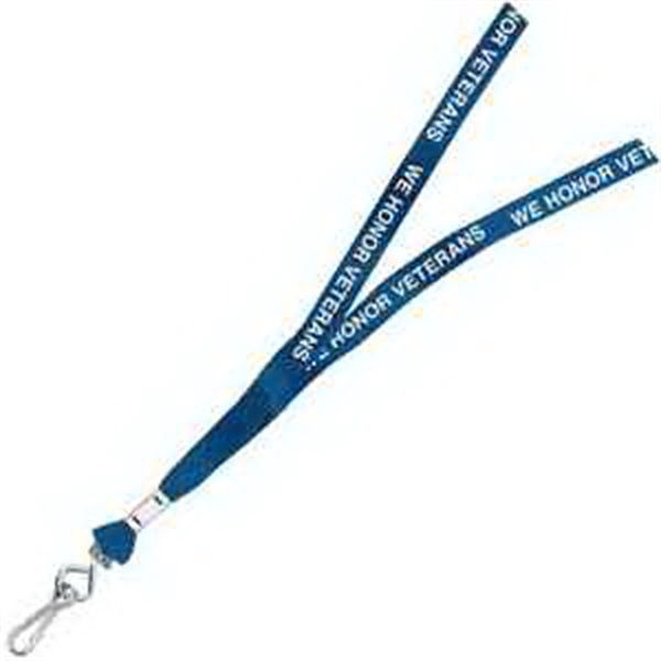 Customized One Ply Cotton Lanyard
