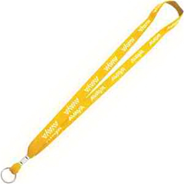 Imprinted One Ply Cotton Lanyard